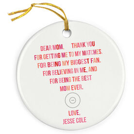 Wrestling Porcelain Ornament - Dear Mom Heart