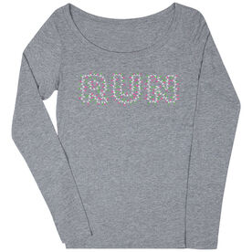 Women's Runner Scoop Neck Long Sleeve Tee Run Lights