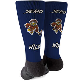 Seams Wild Hockey Printed Mid-Calf Socks - Feather Shot