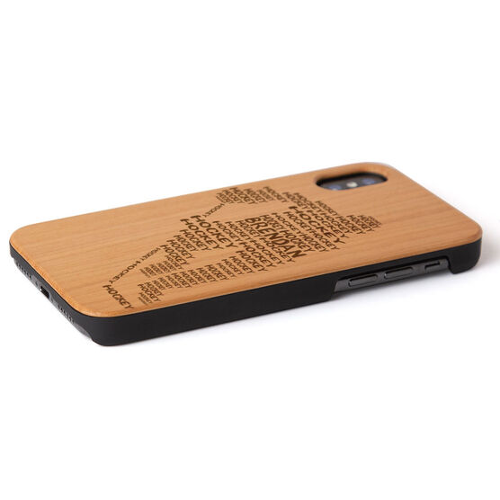 Hockey Engraved Wood IPhone® Case - Words