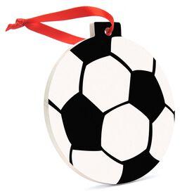 Soccer Round Ceramic Ornament - Ball Graphic