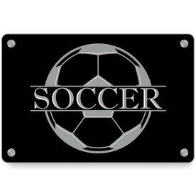 Soccer Metal Wall Art Panel - Crest