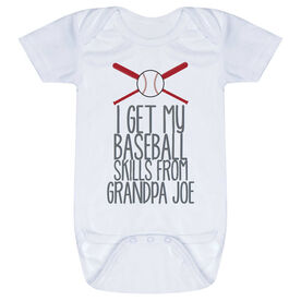 Baseball Baby One-Piece - I Get My Skills From