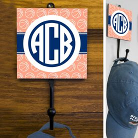 Basketball Hook Monogram with Basketball Pattern