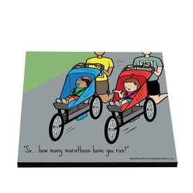 Life On The Run - Baby's An Old Pro - Glossy Tile Coaster
