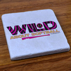 Wild About Softball - Stone Coaster