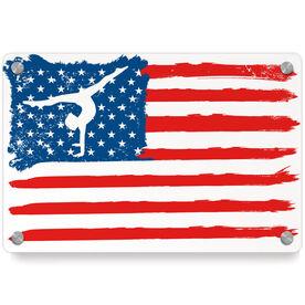 Gymnastics Metal Wall Art Panel - American Flag