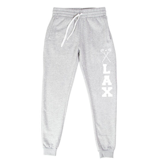 Guys Lacrosse Men's Joggers - LAX With Crossed Sticks
