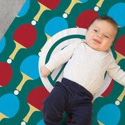 Ping Pong Baby Blanket - Ping Pong Pattern