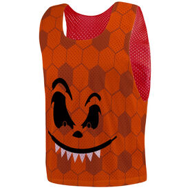 Soccer Pinnie - Pumpkin Face