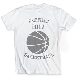Vintage Basketball T-Shirt - Ball With Team