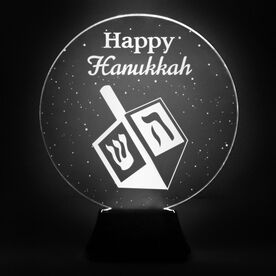 Acrylic LED Lamp - Happy Hanukkah Dreidel