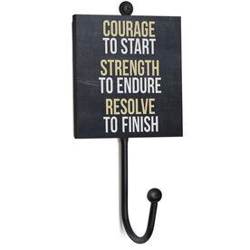Running Medal Hook - Chalkboard Courage To Start