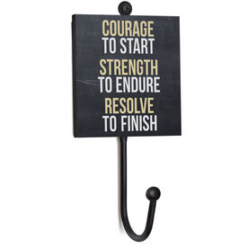 Running Medal Hook - Chalkboard Courage To Start