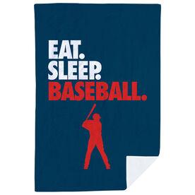 Baseball Premium Blanket - Eat. Sleep. Baseball. Vertical
