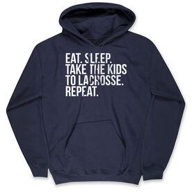Lacrosse Standard Sweatshirt - Eat Sleep Take The Kids To Lacrosse