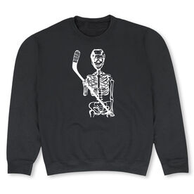 Hockey Crew Neck Sweatshirt - Skeleton (White)