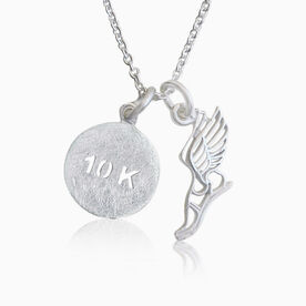 Livia Collection Sterling Silver Winged Foot 10K Necklace
