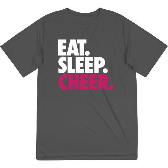 Cheerleading Short Sleeve Performance Tee - Eat. Sleep. Cheer.
