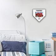 Baseball Home Plate Plaque - Team Photo