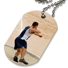 Custom Track and Field Photo Printed Dog Tag Necklace