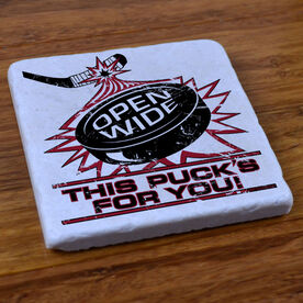 Open Wide Hockey - Stone Coaster