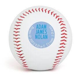 Custom Baseball Double Sided Birth Announcement
