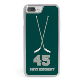 Hockey iPhone® Case - Personalized Crossed Sticks