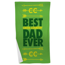 Cross Country Beach Towel Best Dad Ever