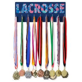 Girls Lacrosse Hooked on Medals Hanger - Floral