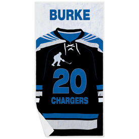 Hockey Premium Beach Towel - Personalized Jersey