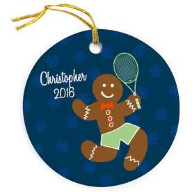 Tennis Porcelain Ornament Gingerbread Man