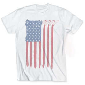 Vintage Hockey T-Shirt - American Flag Sticks