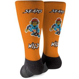 Seams Wild Baseball Printed Mid-Calf Socks - Nanaz