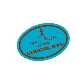 Will Run for Chocolate Mini Car Magnet - Fun Size