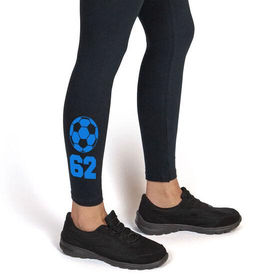 Soccer Leggings Soccer Ball with Number