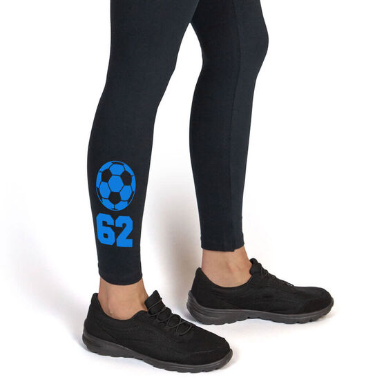 Soccer Leggings Soccer Ball with Number