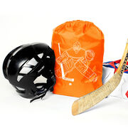 Hockey Sport Pack Cinch Sack - Hockey Goalie Sketch