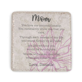 Personalized Stone Coaster - Letter to Mom