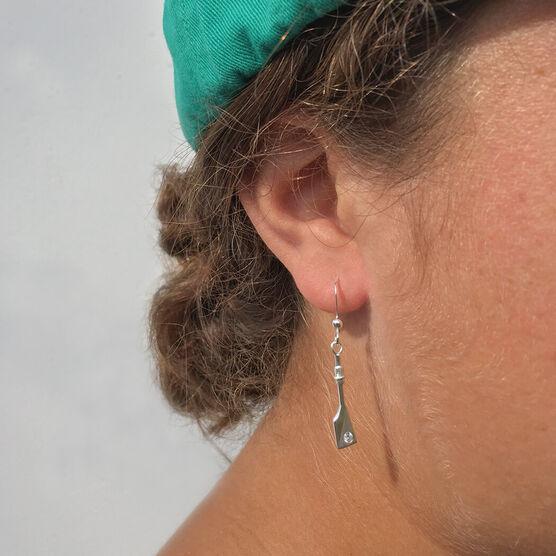 Sterling Silver Single Oar Earrings