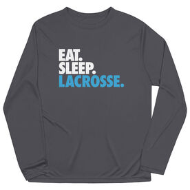 Lacrosse Long Sleeve Performance Tee - Eat. Sleep. Lacrosse.