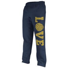 Volleyball Fleece Sweatpants Volleyball Love