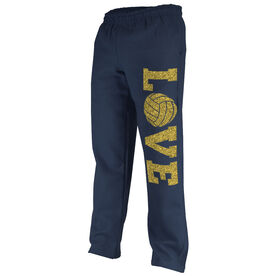 Volleyball Fleece Sweatpants Volleyball Love