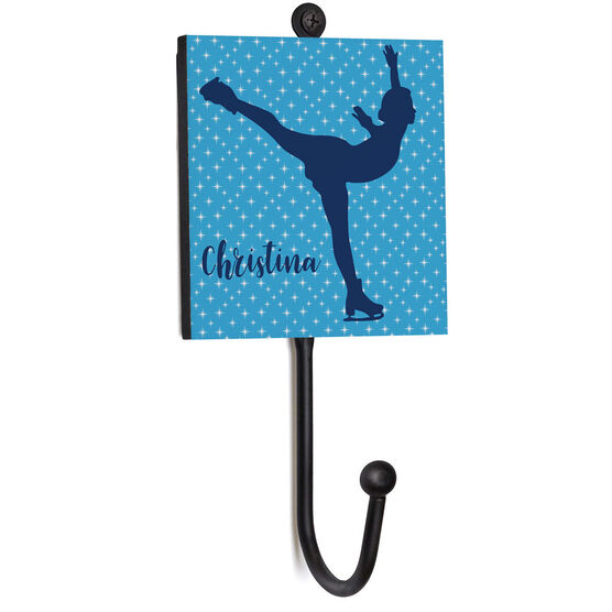 Figure Skating Medal Hook - Silhouette With Name