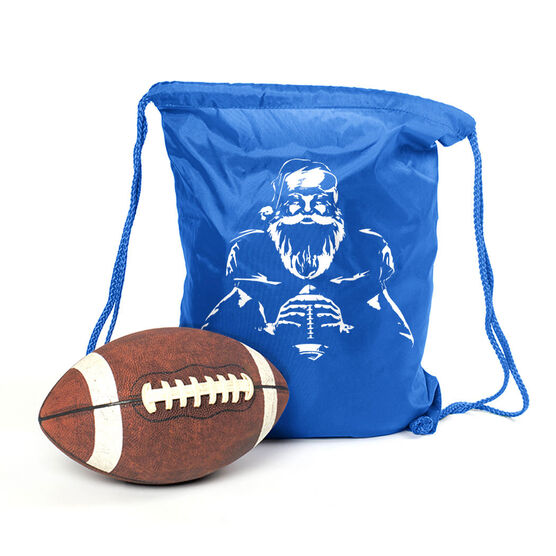 Football Sport Pack Cinch Sack - Santa Player