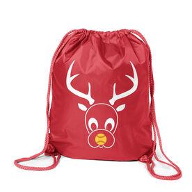Softball Sport Pack Cinch Sack - Reindeer