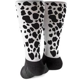 Printed Mid-Calf Socks - Cow Print