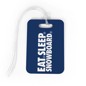Snowboarding Bag/Luggage Tag - Eat Sleep Snowboard