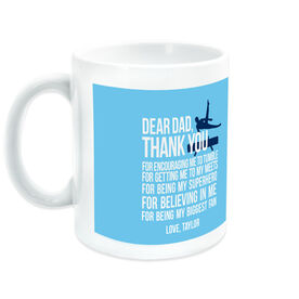 Gymnastics Coffee Mug Dear Dad Male Silhouette