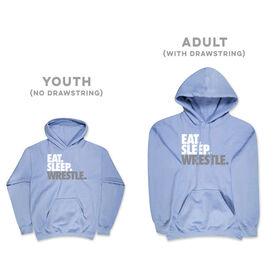 Wrestling Hooded Sweatshirt - Eat Sleep Wrestle (Stack)